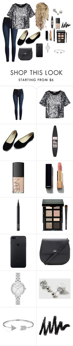 """Untitled #2113"" by shoppingismycardio99 on Polyvore featuring H&M, Maybelline, NARS Cosmetics, Chanel, Bobbi Brown Cosmetics, Kate Spade, Dorothy Perkins and Bling Jewelry"