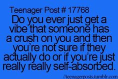 Teen quotes, teenager quotes, funny posts, relatable posts, relatable t Teen Quotes, Funny Quotes, Funny Memes, Funny Comebacks, Hilarious, Jokes, Teenage Crush Quotes, Funny Laugh, Self Absorbed
