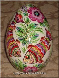 Ukrainian Petrykivka Egg Pysanka - fish