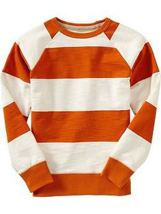 Boys Rugby-Stripe Crew-Neck Tees | Old Navy $20