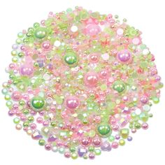 This embellishment pack contains a luscious mixture of rhinestones and pearls in tones of pale greens and rose pinks The sparkly gems range in size Garden Theme, Decoden, Nail Decorations, Ipad Case, Pink Roses, Overlays, Embellishments, Card Making