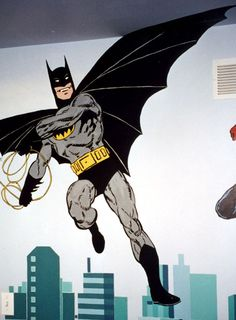"""The Super Heroes: Batman Detail   72"""" x 72""""    Location: Private residence"""