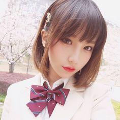 白スーツ #桜 #sakura #女子高生 #JK #seifuku #conomi #selfie