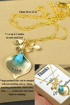 Grandma Necklace .PERSONALIZED GRANDMOTHER by thefabwedding2