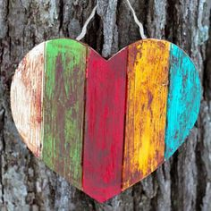 This craft is colorful, rustic, and easy for children to create. Perfect for front doors, shelves, or sharing with a neighbor.