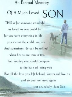 I MISS YOU  MY SON & IMAGES | Mark...Miss My Sons Quotes, Grief Poems Sons, Precious Sons, Miss You ...