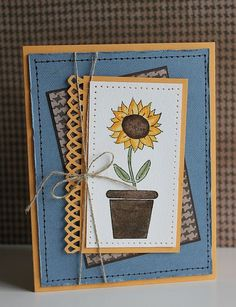 Sunflower card