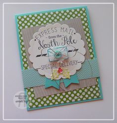 Card by Amber Hight. Reverse Confetti stamp set: North Pole Wishes. Confetti Cuts: North Pole Wishes, Circles 'n Scallops, Let It Snow and Tag Me. Christmas Card. Friendship card.