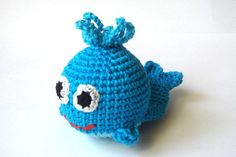 Crochet toy Whale First toy for your baby Blue from MiracleFromThreads  by DaWanda.com