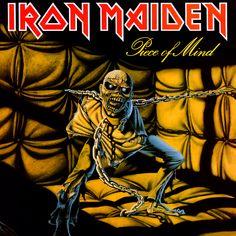 Iron Maiden - Piece of Mind ( Heavy Metal ) Year ( Ano ): 1983 Tracklist: Where Eagles Dare Revelations Flight of Icarus Die With Your B. Iron Maiden - Piece of Mind Albums Iron Maiden, Iron Maiden Album Covers, Def Leppard, Black Sabbath, Hard Rock, Metallica, Cover Art, Lp Cover, Vinyl Cover