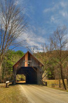 Larkin Covered Bridge  Tunbridge, Vermont, USA   The Larkin was built in 1902 by Arthur Adams.