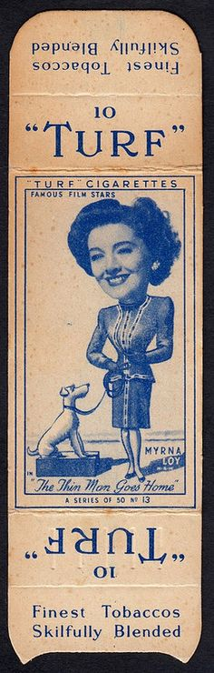 Cigarette Card - Myrna Loy | by cigcardpix