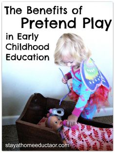 The Benefits of Dramatic Play in Early Childhood Development...yes! Play is work for a child, stop giving 3 & 4 yr olds worksheets!!!!
