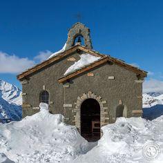 """Die Kapelle #Gornergrat """"Bernhard von Aosta""""."""