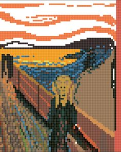 Pixel art 25  The Scream (edvard munch)