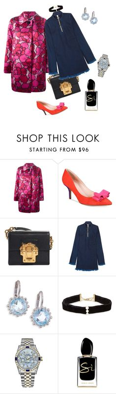 """Untitled #4046"" by ayse-sedetmen ❤ liked on Polyvore featuring Marc Jacobs, Kate Spade, Dolce&Gabbana, Marques'Almeida, Anzie, Anissa Kermiche, Rolex and Giorgio Armani"
