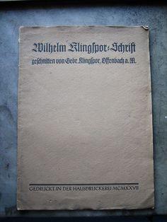 Especímen Wilhelm Klingspor=Schrift Letterpress Printing, Tabletop, Pilot, Gothic, Cards Against Humanity, Letters, Type, Prints, Inspiration