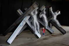 by David Mach - made of coat hangers...