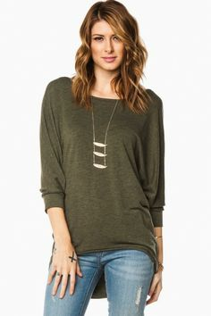 Landry Tee in Olive, love the look of the outfit!