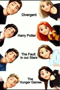 disney, divergent, harry potter, rapunzel, tangled, the fault in our stars, the hunger games, die tribute von panem, die bestimmung