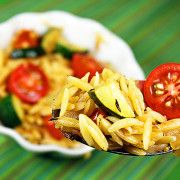 The Comfort of Cooking » Lemon Orzo with Sautéed Zucchini and Tomatoes
