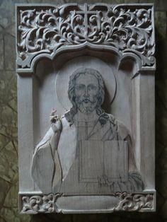 Икона Христа Спасителя | Резьба по дереву, кости и камню