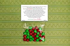 m & m christmas story | holiday printable