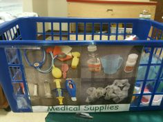 Labled medical supplies
