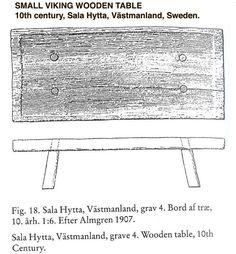 Lavt bord. Desværre uden mål. Fundet i Sverige.