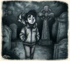 At the Cemetery by MacGreen