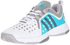 adidas Performance Women's Barricade Classic Bounce W Training Footwear,White/Night Grey Metallic/Shock Green,7.5 M US * Read more reviews of the product by visiting the link on the image.