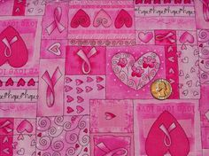 BCA hope hope hope  Fabric By The Yard by TheFabricFox on Etsy, $8.95