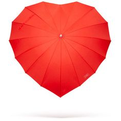Red Heart Shaped Couples Umbrella - A romantic walk in the rain. Red Umbrella, Under My Umbrella, Small Umbrella, I Love Heart, My Love, Scarlet, Umbrellas Parasols, Rain Gear, Singing In The Rain