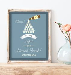Sign our Guest Book sign for wedding Beer by MissDesignBerryInc