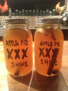 Apple pie moon shine. I've had some and it tasted like apple pie with a KICK! :)