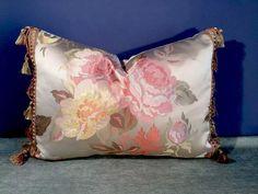 Paris Inspired Silk Satin Floral Robert Allen Trim Scalamandre Silk Pillow | eBay