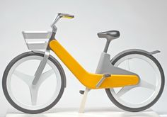 City Pedelec by Philipp Guenther - This futuristic looking bicycle is a perfect city bike. It's designed with that idea in mind. This bicycle is heavy duty and is made to last for a long time without breaking down. All of it's chains, cables and vulnerable parts are hidden inside the heavy frame, which protects the bike from damage and daily wear and tear. It also has a built in motor.