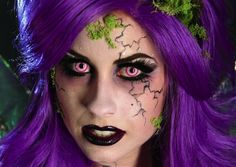 Follow this video makeup guide and become a dark fairy this Halloween. #Halloween #makeup #costume #fairy