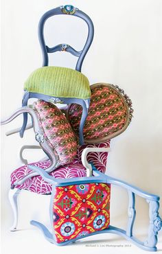 painted chairs by Sharyn Fireman