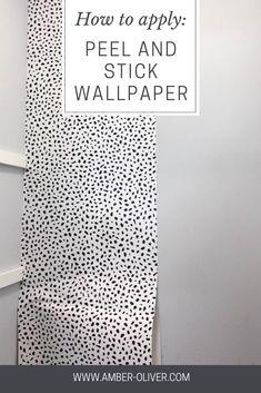 Learn how to apply peel and stick wallpaper quickly and easily! See how we transformed our pantry for around 30 bucks! #wallpaper #peelandstickwallpaper #renterhacks #diy