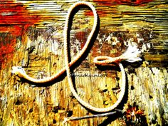 Alphabet Letter b Photograph Digital Rustic Rope by somadlyinlove, $1.75