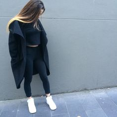 Fall * winter * fashion * outfit * 2015 * casual * chic * cozy * warm * all black