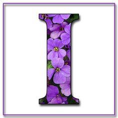 Capital+Letter+I+Free+Scrapbook+Alphabet+Purple+Flowers.jpg (1200×1200)