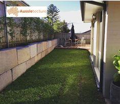 Australian sandstone logs from local quarries. x x long Finishing – Split natural fac Landscaping Blocks, Landscaping Retaining Walls, Backyard Landscaping, Backyard Ideas, Garden Ideas, Retaining Wall Blocks, Garden Retaining Wall, Sandstone Wall, Sandstone Paving