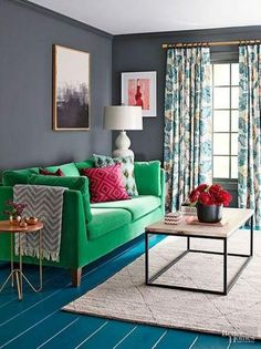 Want to add a splash of color to make your living room more energetic? Here are some living room color ideas for you to see! Living Room Decor Ikea, Living Room Red, Living Room Colors, Colourful Living Room Decor, Apartment Living Room, Living Room Wood, Living Room Grey, Living Room Decor Gray, Vintage Living Room