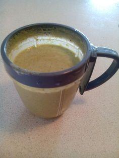 Nutribullet pro handful of broccoli, kale,ginger,cinnamon,half an orange, half a banana,flaxseed,fat free skim milk