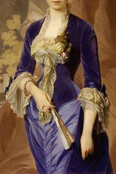 "warpaintpeggy: ""  INCREDIBLE DRESSES IN ART (112/∞) Portrait of Rayevskaya by unknown artist, 1870s """
