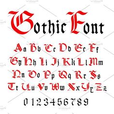 Classic gothic font, set of ancient letters isolated on white Calligraphy Letters Alphabet, Graffiti Lettering Alphabet, Gothic Lettering, Gothic Fonts, Tattoo Lettering Fonts, Lettering Design, Gothic Script, Calligraphy Tutorial, Hand Lettering Tutorial