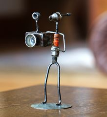 Recycled Spark Plug Statues