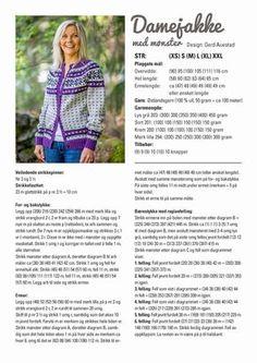 nille: Stikk: Damejakke med mønster gratis oppskrift